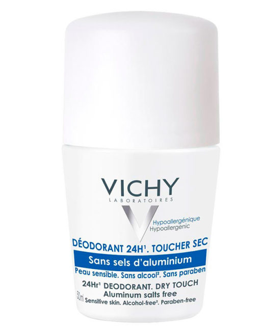 Vichy Desodorante Roll-on 24h sin sales de aluminio (50ml)